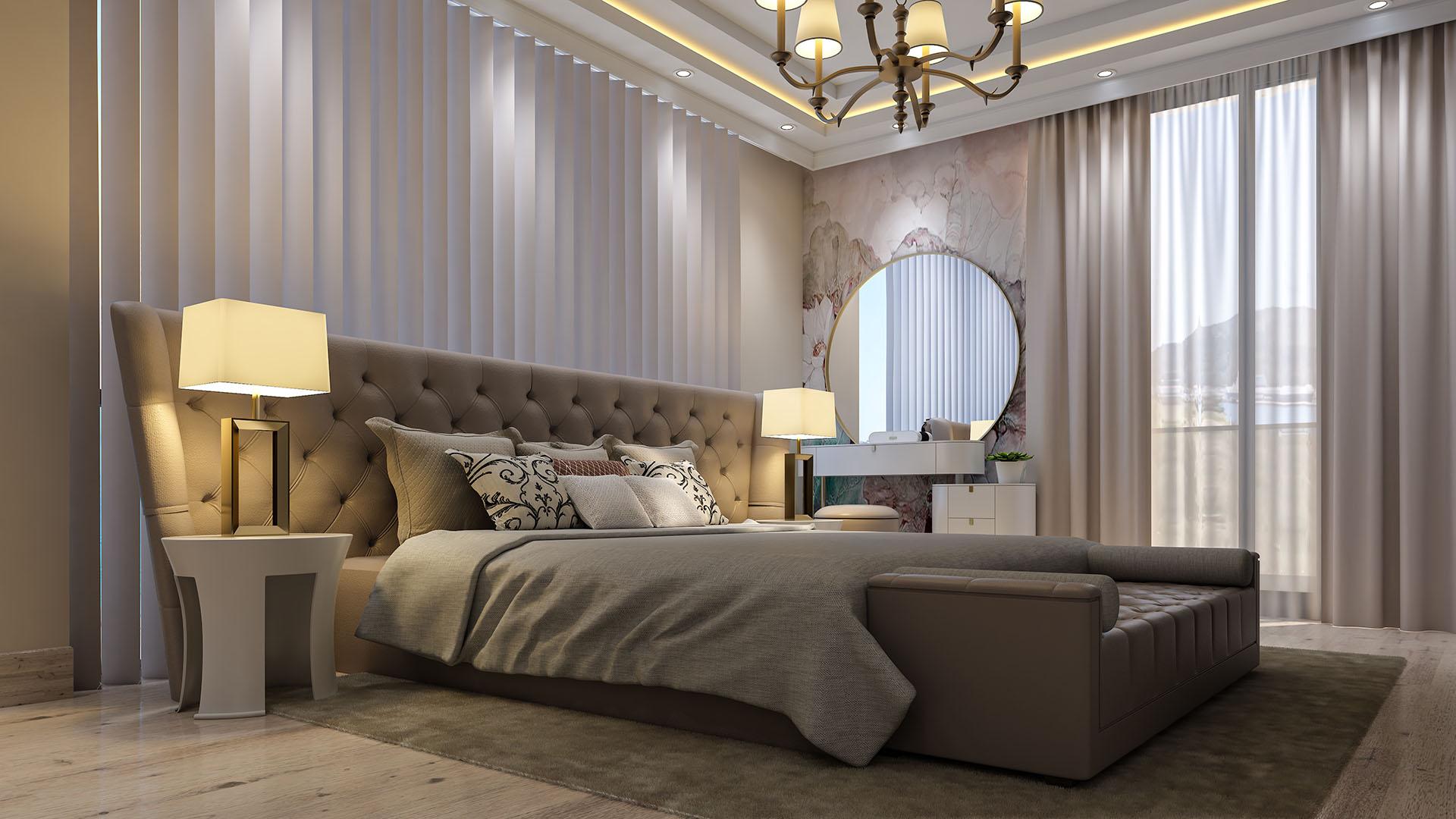 Modern Yatak Odasi Tasarim Modelleme